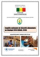 Senegal - Enquête nationale de sécurité alimentaire au Sénégal 2016, Avril 2016
