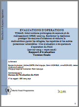 Chad PRRO 200713 Building Resilience, Protecting Livelihoods and Reducing Malnutrition of Refugees, Returnees and other Vulnerable People: An Operation Evaluation
