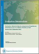 Mali, WFP Asset Creation Programme: an evaluation