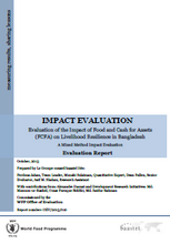 Food for Assets on Livelihood Resilience in Bangladesh: An Impact Evaluation