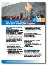2016 - Fast Facts: WFP's policy for  South-South and Triangular Cooperation