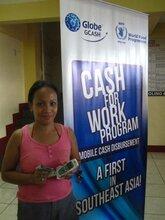 Cash-For-Work: mobile phone-based cash disbursement via Globe G-CASH