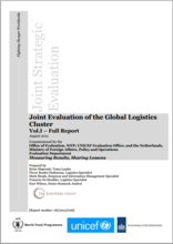 Global Logistics Cluster: a Joint Strategic Evaluation