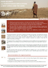 West Africa and the Sahel - Food Security and Humanitarian Implications, 2015