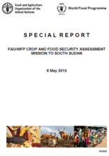 South Sudan - FAO/WFP Crop and Food Security Assessment Mission, May 2015