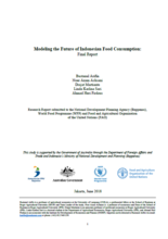 WFP/FAO Modeling the Future of Indonesian Food Consumption, June 2018