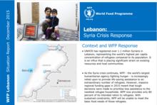 WFP Lebanon Situation Report, December 2015