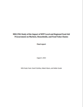 Impact of WFP Local and Regional Food Procurement on Markets, Households and Food Value Chains