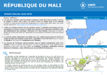 Mali - Bulletin Marché, 2018