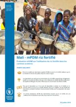 Mali mVAM Post-Distribution Monitoring