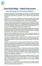 Nigeria - Rann/Kala Balge – Rapid Assessment, December 2017