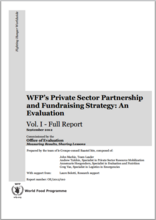 WFP's Private Sector Partnership  and Fundraising Strategy: An Evaluation