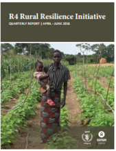 R4 Rural Resilience Initiative: Quarterly Report | April - June 2016