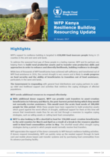 WFP Kenya  Resilience Building Resourcing Update - 20 January 2017