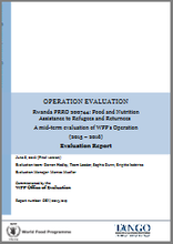 Rwanda PRRO 200744 Food and Nutrition Assistance To Refugees and Returnees: A mid-term Operation Evaluation