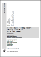 WFP's School Feeding Policy: A Policy Evaluation