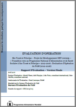 São Tomé and Príncipe DEV 200295 Transitioning towards a nationally owned school feeding and health programme: An Operation Evaluation
