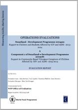 Swaziland DEV 200422 Support to children and students affected by HIV and AIDS (2013-2014): An Operation Evaluation