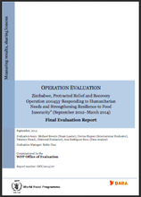 Zimbabwe PRRO 200453 Responding to Humanitarian Needs and Strengthening Resilience to Food Insecurity: An Operation Evaluation.