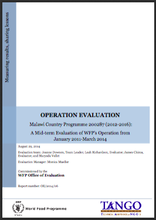 Malawi CP 200287 (2012-2016): A mid-term Operation Evaluation