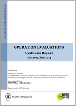 Annual Synthesis of Operations Evaluations (June 2013 - July 2014)