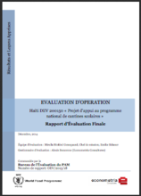Haiti DEV 200150 Support for the National School Meals Programme: An Operation Evaluation
