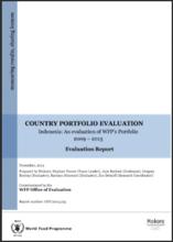 Indonesia: an evaluation of WFP's Portfolio (2009-2013)