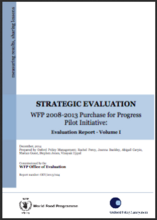 Strategic Evaluation of WFP'S Pilot Purchase for Progress Initiative (2008–2013)