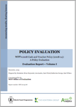WFP's Cash and Voucher Policy: A Policy Evaluation