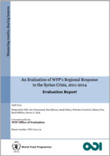 An Evaluation of WFP's Regional Response to the Syrian Crisis, 2011-2014