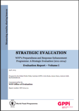 WFP's Preparedness and Response Enhancement Programme: A Strategic Evaluation (2011-2014)