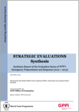 Synthesis of the Evaluation Series of WFP's Emergency Preparedness and Response (2012 – 2015)
