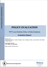 2012 Nutrition Policy: A Policy Evaluation