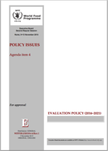 WFP Evaluation Policy (2016-2021)