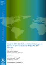 Honduras, Decentralization of the National School Feeding Programme (2016-2019): Evaluation