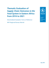 Eastern Africa, Supply Chain outcomes in the Food System: Evaluation