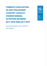 Philippines, country capacity strengthening activities 2018-2020