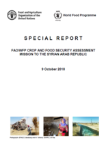 Syrian Arab Republic - FAO/WFP Crop and Food Security Assessment Mission, October 2018