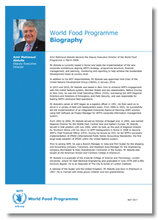 2017 -  WFP Deputy Executive Director - Biography