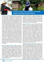 WFP Myanmar: August Operational Report
