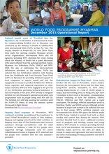 WFP Myanmar: December 2015 Operational Report