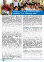 WFP Myanmar: September 2016 Operational Report