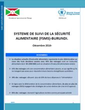 Burundi - Food Security Monitoring System, 2016