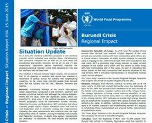 WFP Burundi Crisis Regional Impact Situation Report #04, 15 June 2015