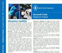 WFP Burundi Crisis Regional Impact Situation Report #05, 22 June 2015