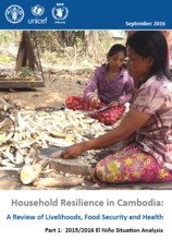 Cambodia - Household Resilience in Cambodia Review of Livelihoods, Food Security and Health: Part 1: 2015/2016 El Niño Situation Analysis, September 2016