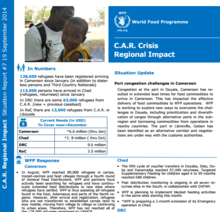 WFP Regional Impact of the C.A.R. Crisis Situation Report #19, 09 December 2015