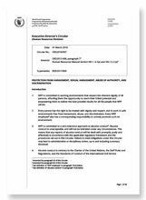 2018 - ED Circular - Protection from Harassment, Sexual Harassment, Abuse of Authority, and Discrimination