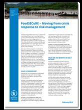 2018 -  FoodSECuRE factsheet