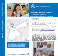 WFP JORDAN EXTERNAL SITUATION REPORT, NOVEMBER 2015